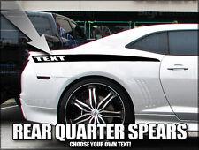 2010 2011 2012 2013 Camaro rear quarter spear side stripes SS RS ZL1