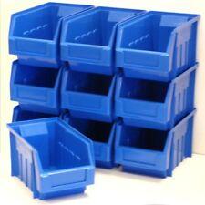 20 x Very Good Condition Plastic Parts Storage Bins Boxes - Blue Size 3
