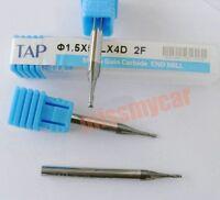 1.5mm Single Flute Carbide Spiral End Mills Router Bit 8mm CEL QTY:5 M/_M/_S