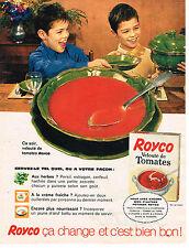 PUBLICITE ADVERTISING  1961   ROYCO   potages velouté à la tomate