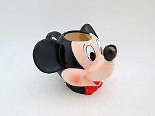 Vtg 90s Disney Mickey Mouse Ceramic Memorabilia Figural Face Mug Cup