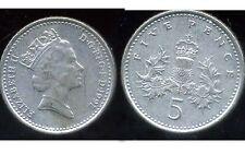 ROYAUME UNI   five   5  pence 1991  ( bis )