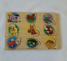 Melissa And Doug Wooden Animal Sound Puzzle