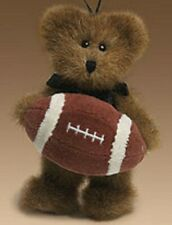 BOYDS COLLECTION- PLUSH  ORNAMENT-  LIL T D  (BEAR W/ FOOTBALL)