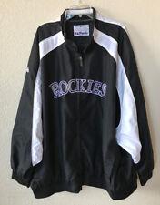 MENS 6XL MLB Colorado Rockies Majestic Light Weight Zip Up Jacket #104027