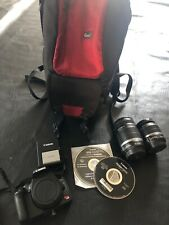 Canon Rebel XSi EOS Digital Camera w/ two lenses, bag, + accessories.