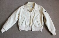 Men's GAS Military Jacket Size M Medium Beige Bomber MA 1 Poliamida Cotton