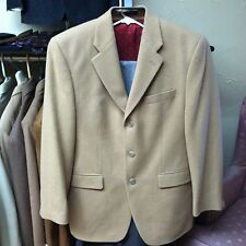 Ralph Lauren Mens Jacket 39 REG Light Solid Brown Camel Hair Blazer Luxury EUC!
