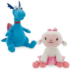 LAMBIE & STUFFY BOOKENDS Plush Stuffed Animal Dragon Doll Disney Doc McStuffins
