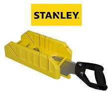 STANLEY 250mm x 100mm Mitre Cutting Block/Box + Tenon Wood Saw STA119800