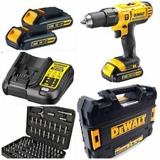 DEWALT 18V CORDLESS LITHIUM XR COMBI 2 1.5 Li-ION BATTERIES T STAK CASE  CHARGER