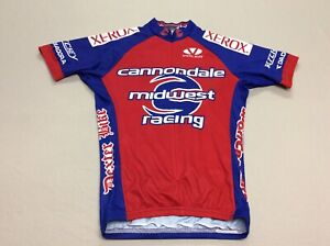 CANNONDALE XEROX SHORT SLEEVED BLUE AND RED RACE RAGLAN CYCLING MENS ADULT SMALL