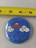 Vintage HANDMADE RAINBOW SUN pin button pinback *QQ1