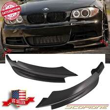 Scopione GLOSSY Carbon Fiber Front Splitters for 08-13 BMW 1 Series M-Tech - E82