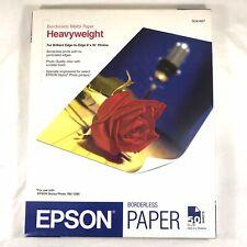 "Epson Borderless 8"" X 10"" Premium Matte Paper Heavyweight 45 Sheets  S041467"