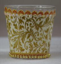 Ausgefallenes Dekoglas, Teelicht, Weihnachten, Glas, Ornament, gold