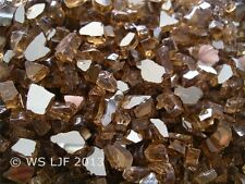 "40 LBS 1/4"" Copper Reflective Fireglass Fireplace Glass Rocks Fire Pit Crystals"