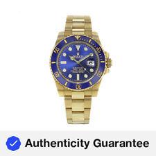 Rolex Submariner 116618 Azul En Azul 18K Oro Amarillo Reloj Para hombres Automático