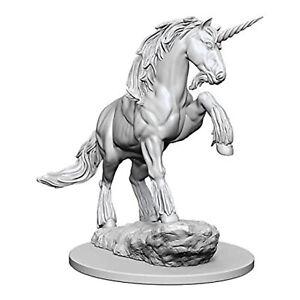 Wizkids Pathfinder Battles Deep Cuts Unpainted Unicorn Figure Set NEW