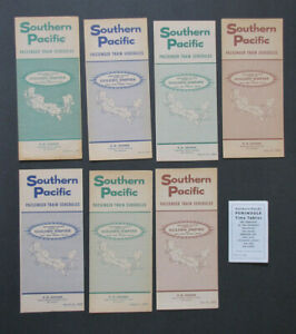 SP SOUTHERN PACIFIC Lot of 8 Public Timetables: 1967-70