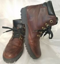 TIMBERLAND Brown Leather Lace Up Ankle Hiking Boots Mens size 8.5(US) Orthilite