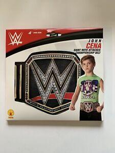 WWE: Kid's Costume Top With Belt, John Cena World Heavyweight Championship