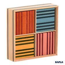 KAPLA Steine OCTOCOLOR - Holzbausteine 100 farbige Plättchen