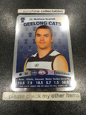 2010 AFL TEAMCOACH SILVER CARD NO.23 MATTHEW SCARLETT GEELONG