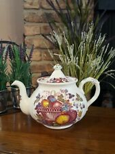 Mason's Fruit Basket - Red Multicolor - Large Round Teapot and Lid - 5 Cup +