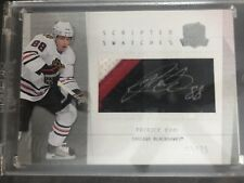 2009-10 The Cup Patrick Kane Scripted Swatches Auto Patch #15/25 Autograph
