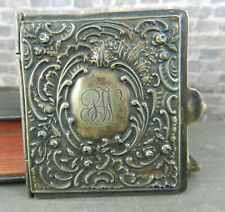 Antique Repousé Sterling Silver Hinged Purse / Pocket Note Book