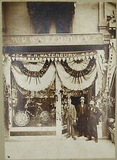 Antique 1895 photograph Saratoga's Floral Fete W.R.Waterbury bicycle Springs NY