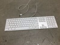 Apple USB Aluminum Wired Keyboard Model # A1243 Used Very Good Cond. Works Fine