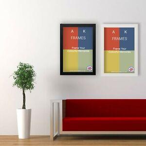BLACK Picture Frames WHITE OAK A1 A2 A3 A4 A5 Modern Square Photo Poster Frame