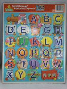 Golden Frame-Tray Puzzle Sesame Street Twiddlebugs' Alphabet Express ABC's 1986
