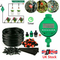 25M Micro Drip Irrigation Watering Automatic Garden Plant Greenhouse System UK