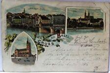 POSTKARTE  BASEL 1895