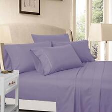 6-Piece Brushed Bed sheet set Super Soft Fits Deep Pocket California King, Ash