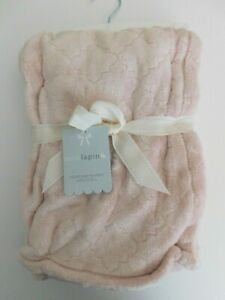 NWT Mon Lapin Baby Girl Pink Velvet Baby Blanket Throw Free Shipping New