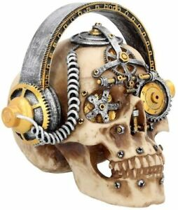 Nemesis Now Techno Talk Large Skull Figurine 21cm Brown U2922H7