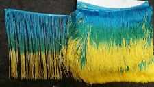 ombre chainette fringe 12 inches ,sold by yard