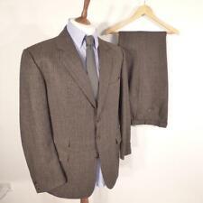 """Mens BURBERRY Brown Suit 44"""" Long Jacket + W40"""" L32"""" Trousers #E3222"""