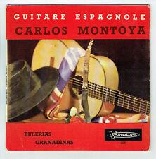 "Calos MONTOYA Disque 45T 7"" EP GUITARE ESPAGNOLE - BULERIAS - GRANADINAS RARE"