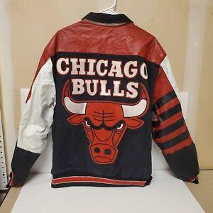 BASKETBALL CHICAGO BULLS , LEATHER JACKET, VINTAGE, LARGE, JEFF HAMILTON.