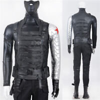 Captain America Winter Soldier Bucky Cosplay Costume Halloween Fancy Dress Suit