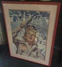 Original Vintage College Football Poster Boston University Vs. Rhode Island 1945