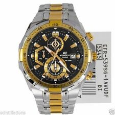 Casio Edifice Men's Wristwatch - EFR-539 SG 2AV TWO TONE STEEL GOLD CHRONOGRAPH