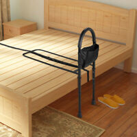 Bed Rail Assist Bar Adjustable Height Grab Medical Supply for Seniors w/Strap