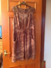 MARKS & SPENCER AUTOGRAPH BROWN DRESS SIZE 14 BRAND NEW WITH TAGS