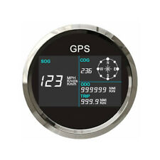 Car Motorcycle Truck 12/24V 85mm GPS Speedometer 0~299 MPH,Knots,Km/h Waterproof